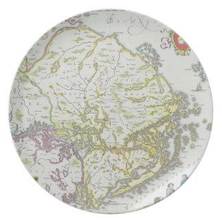 Mapa de Estocolmo, Suecia Plato