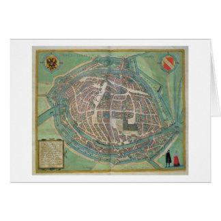 Mapa de Estrasburgo, de 'Civitates Orbis Terrarum Tarjeta De Felicitación