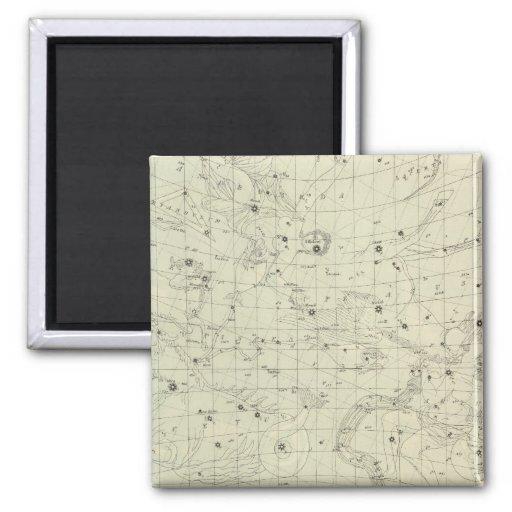 Mapa de estrella 2 imán cuadrado