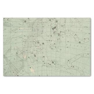 Mapa de estrella 2 papel de seda pequeño