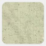 Mapa de estrella 2 pegatina cuadrada