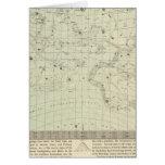 Mapa de estrella 2 tarjeta de felicitación
