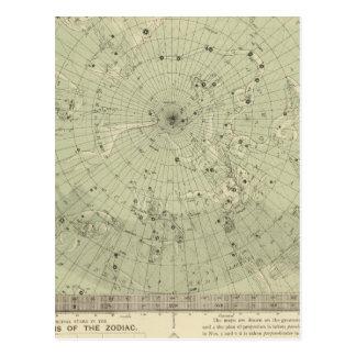 Mapa de estrella de la región polar del norte postales