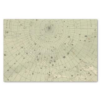 Mapa de estrella de la región polar del sur papel de seda pequeño