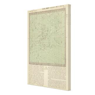 Mapa de estrella lona estirada galerias
