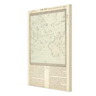 Mapa de estrella lona estirada galerías