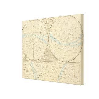 Mapa de estrellas fijas lona envuelta para galerías