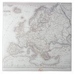 Mapa de Europa 2 Azulejo Cuadrado Grande
