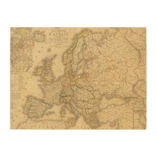 Mapa de Europa 2 Cuadro De Madera