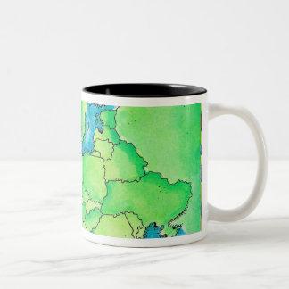 Mapa de Europa 2 Taza De Café