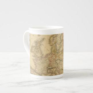 Mapa de Europa 2 Taza De Porcelana