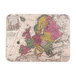 Mapa de Europa 3 Iman Rectangular