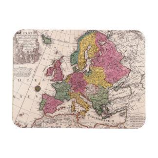 Mapa de Europa 3 Imán Rectangular