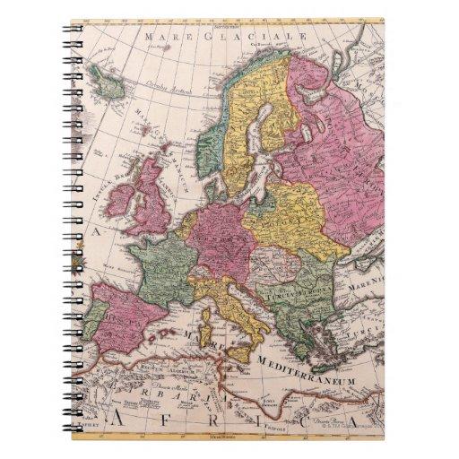 Mapa de Europa 3 Libreta Espiral