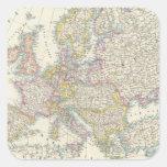 Mapa de Europa 3 Pegatina Cuadrada