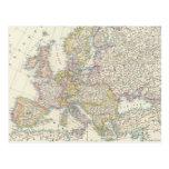 Mapa de Europa 3 Tarjeta Postal