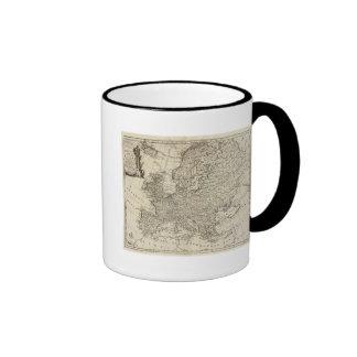 Mapa de Europa 3 Taza De Café