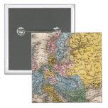 Mapa de Europa 4 Pin Cuadrado