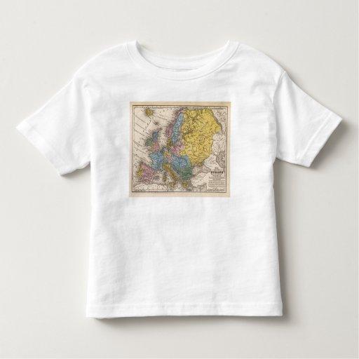Mapa de Europa 4 Playera De Bebé
