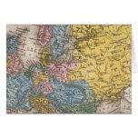 Mapa de Europa 4 Tarjeta De Felicitación