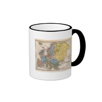 Mapa de Europa 4 Taza De Café