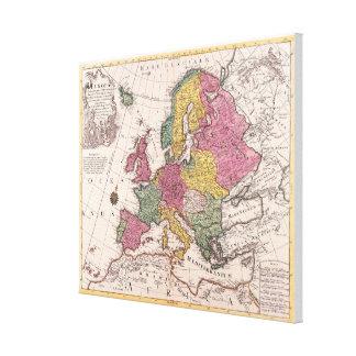 Mapa de Europa 7 Impresión En Lienzo