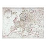 Mapa de Europa 7 Tarjetas Postales