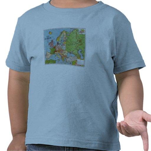 Mapa de Europa Camiseta