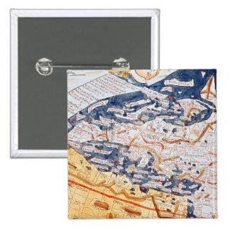 Mapa de Europa Central, 1486 Pin Cuadrado