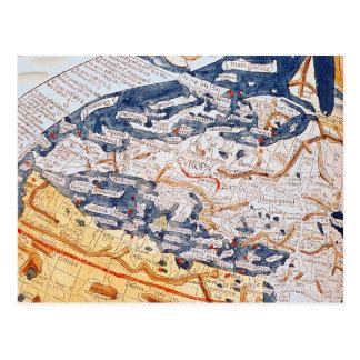 Mapa de Europa Central, 1486 Postal