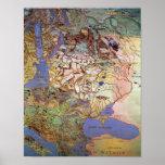 Mapa de Europa Central Posters