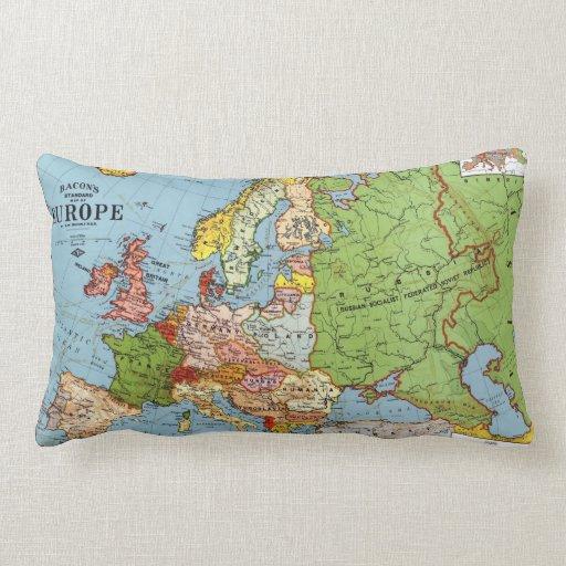 Mapa de Europa Cojín