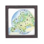 Mapa de Europa con los ejemplos de famoso Caja De Recuerdo De Calidad