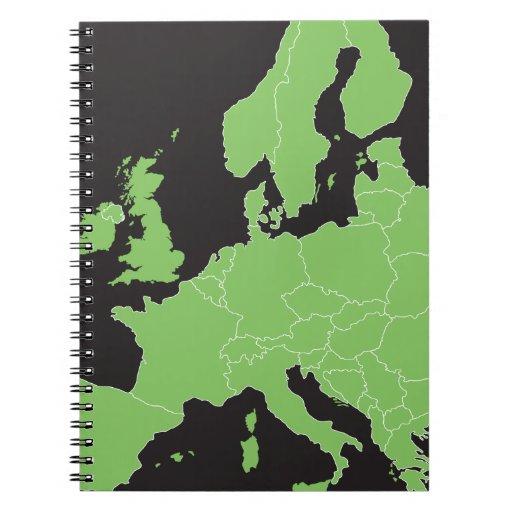 Mapa de Europa Cuaderno