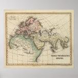 mapa de Europa, de África septentrional y de Asia  Impresiones