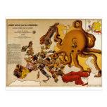 Mapa de Europa - de Juan Bull y de su Friends (190 Tarjeta Postal