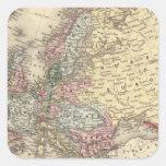 Mapa de Europa de Mitchell Calcomanía Cuadrada