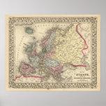 Mapa de Europa de Mitchell Posters