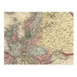 Mapa de Europa de Mitchell Tarjetas Postales