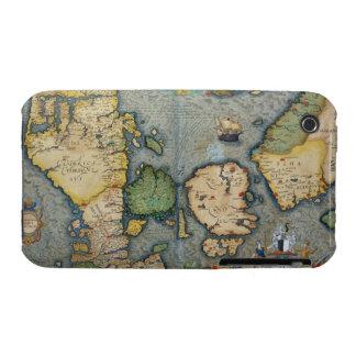 Mapa de Europa del Norte, de 'Civitates Orbis Terr iPhone 3 Protectores
