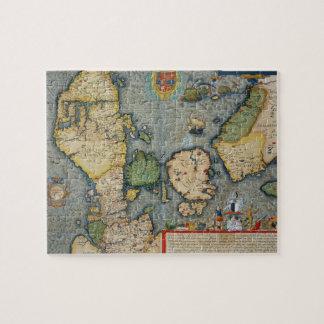 Mapa de Europa del Norte, de 'Civitates Orbis Terr Puzzles Con Fotos