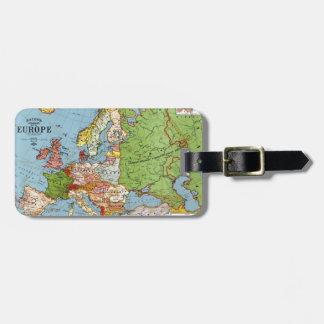 Mapa de Europa Etiquetas De Equipaje
