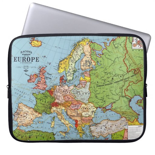 Mapa de Europa Fundas Computadoras