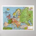 Mapa de Europa Impresiones