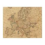 Mapa de Europa Impresiones En Madera
