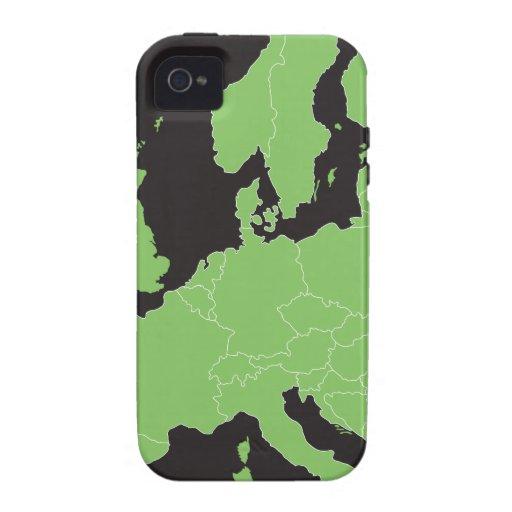 Mapa de Europa iPhone 4/4S Funda