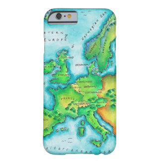 Mapa de Europa occidental Funda De iPhone 6 Barely There