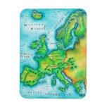 Mapa de Europa occidental Imán De Vinilo