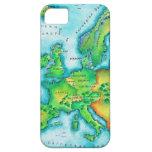 Mapa de Europa occidental iPhone 5 Fundas