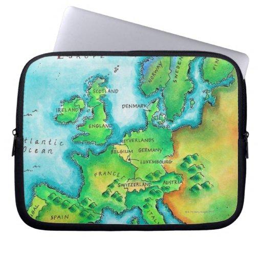 Mapa de Europa occidental Manga Portátil